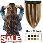 Clip ins Human Hair Extensions 100% Remy Long Soft Highlight Brown Blonde 1Piece