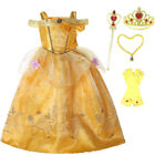 Belle Girls Fancy Dress Disney Beauty and the Beast Kids Child Halloween Costum