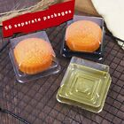 Mini Square BPA Free Clear Plastic Black Base Mini Cake Take Out Container 50Pcs