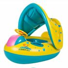 Baby Swimming Pool Floats Boat with Inflatable Sunshade Canopy for Kids 6 36 Mon