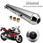 Universal Motorcycle Cafe Racer Exhaust Pipe W Sliding Bracket For Harley 175