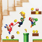 NEW Super Mario Games Wall Sticker For Kids Baby Boys Room Home Decorative