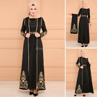 Dubai Maxi Party Dress Women Muslim 2PCS Abaya Islamic Kaftan Robe Gown Ramadan