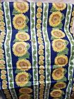 Spring Ind SUNFLOWER LEAF Stripe Fabric 100 COTTON CHINTZ Quilt Sewing BTY B4