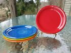 set 4 SALAD bistro PLATE scarlet lapis poppy lemongrass NEW  FIESTA 7 1/4