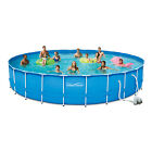 24ft Above Ground Pool Backyard Swimming W Filter 4FT Deep Best Swimming Kit 24