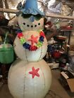 Christmas Inflatable Beach Snowman