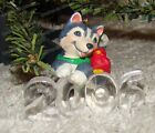 Husky Puppy & Cardinal Ornament (Hallmark Cool Decade Collection, QX2463) 2006