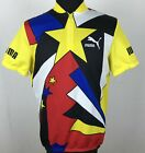 Puma Cycling Jersey 90s Vintage Bike Shirt Mens Size L Maglia Retro Short Sleeve