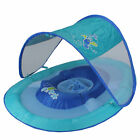 Swim Way 36IN Blue and Red Pool Step 1 Baby Spring Float with 50 UPF Sun Canopy