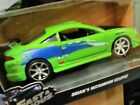NEW JADA FAST AND FURIOUS BRIANS 1995 Mitsubishi Eclipse 124 Green Diecast Car