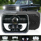 H6054 7x6 LED Headlight Hi Lo Beam Halo DRL For Express Savana