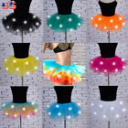 Women Light Up LED Tutu Dress Girls Stage Dance Short Mini Skirt Dancewear USA