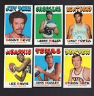 1971 - 72 Topps Basketball lot of 29 cards with stars