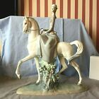 LLADRO LADY WOMAN ON HORSE - 4516. FEMALE EQUESTRIAN. VERY LARGE, HEAVY