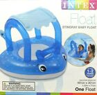Intex Baby Pool Shaded Stingray Float with Toy Handle 405 x 305 1 2 yr New