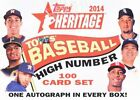 2014 Topps Heritage Baseball High Number Factory Set - Sealed w auto