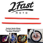 2FastMoto Spoke Wrap Kit Red Spoked Rim Wraps Covers Skins Custom Wheels Honda