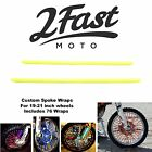2FastMoto Spoke Wrap Kit Yellow Wraps Skins Covers Spoked Wheel Rims Bultaco
