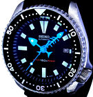 Vintage mens SEIKO diver 7002 FISH-BONE mod w/all NEON BLUE
