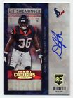 2013 Panini Contenders Football Rookie Ticket Autographs Short Prints 17