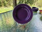RIM SOUP/ SMALL PASTA BOWL mulberry purple FIESTA 9