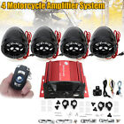 Amplifier Bluetooth Motorcycle Stereo Speaker Audio System AUX Radio For Harley