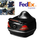 Motorcycles Scooters ATV Universal ABS Trunk SaddleBags Tail Box Red LED Light
