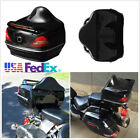 12V Black Motorcycle Tail Trunk Box With Red Taillight Brake/Turn Signal Light
