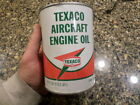 texaco aircraft motor oil can empty 1 quart can
