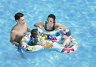 Baby Pool Float Rider Dual Learn to Swim Deep Pocket Seats Half Ring Opening