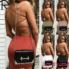 Solid Color Backless Bandage Dresses Sleeveless Slim Fit Bodycon Club Mini sexy