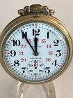 HAMILTON 971 POCKET WATCH 16S 23J 5ADJ 10K Rolled Gold Plate 12 24 WOW