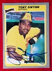 1985 Fleer TONY GWYNN #34 Signed Card Sand Diego Padres Team vtg HOF Auto