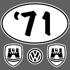 Vw Volkswagen Beetlebug Year Oval Stickersdecals 38-79