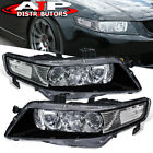 Black Clear OE Style Replacement Head Lights Lamps Pair For 2004 2008 Acura TSX