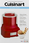 Cuisinart Frozen Yogurt Ice Cream and Sorbet Maker Red Ready in 20 Minutes