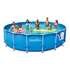 Backyard Above Ground Swimming Pools 18FT Pool Best Kit 48In Deep W Filter New
