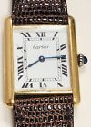 Must de CARTIER VERMEIL TANK Quartz  Plaque OR G 20M Unisex Timepiece