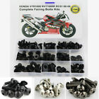 Complete Fairing Bolts Kit For Honda VTR1000 RVT1000R RC51 2000-2006 Black