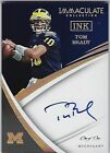 2018 Immaculate Collection Collegiate Tom Brady INK Auto 1 1!