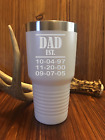 DAD EST KIDS BIRTH DATES FATHERS NAME DAY GIFT NO YETI CUSTOM TUMBLER COFFEE