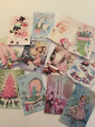 Pink Christmas Die Cuts Gift Tags Vintage Style So Cute 12 Piece Item A 1
