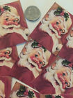 Vintage Cheerful Santa GIFT TAGS Die Cuts for Presents Journals