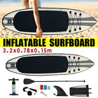 105 Inflatable SUP Stand up Paddle Board Surfboard Adjustable Fin Paddle Set