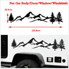Black 39 Tree Mountain Car Sticker Scene Large Northwest For SUV Offroad Decal
