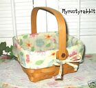 Longaberger 2004 Medium Berry Basket Combo ~ Floral Blooms Liner