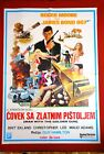 MAN WITH GOLDEN GUN 007 JAMES BOND  1974 ROGER MOORE EKLAND 1SH YU MOVIE POSTER
