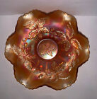 Fenton Carnival Glass Autumn Acorns Bowl