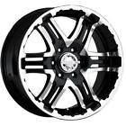 4 16x8 Black Gear Alloy Double Pump 713 6x55 0 Nitto Mud Grappler 305 70R16